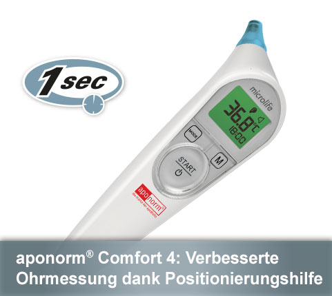 Aponorm Comfort 3 Ohr-thermometer Infrarot Fieberthermometer Kinderthermometer Thermometer